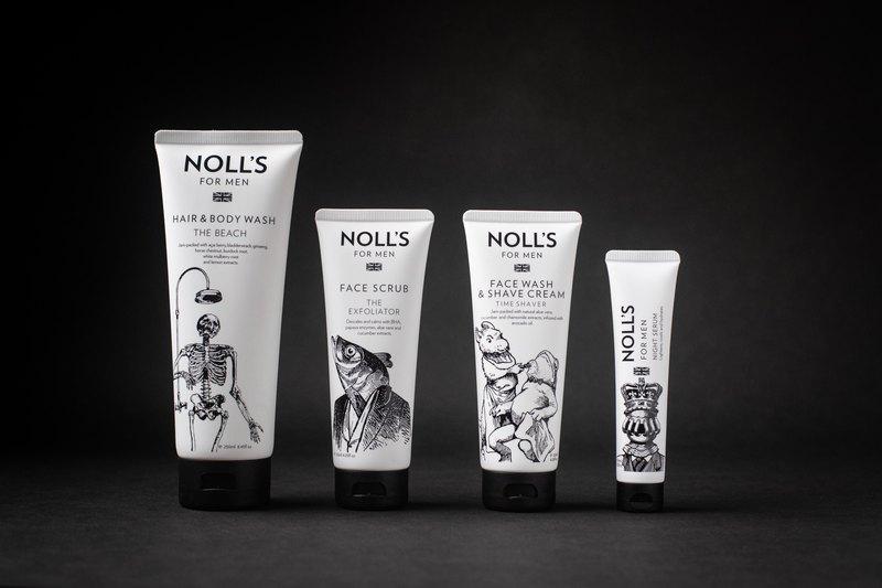 男士保養品經典組(洗髮沐浴乳+臉部去角質霜+洗面刮鬍乳+精華液)