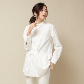 qualite(カリテ)/フロントツイストシャツ