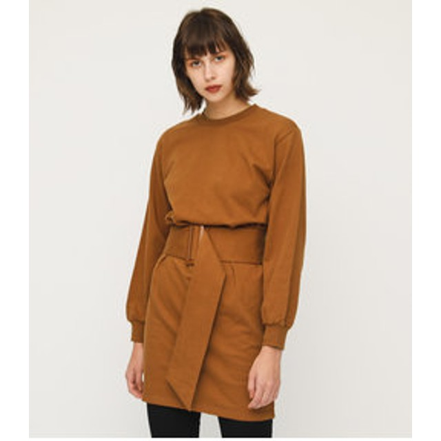 【SLY:ワンピース】BELTED VOLUME SWEAT OP