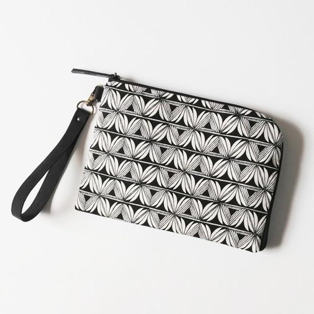 Half zipper clutch bag(M)012.5 母子手帳ケース/通帳ケース/お薬手帳ケース/パスポート