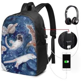 鼠 リュックサック 多機能バックパック ラップトップバック 17インチ USB充電機能付き 旅行カバー リュックカバン 大容量 人気 盗難防止 耐衝撃 通学 出張