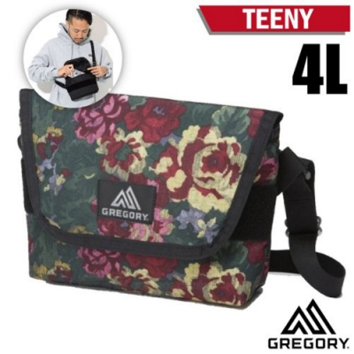 GREGORY TEENY 4L 超輕可調式側背包_花園油彩