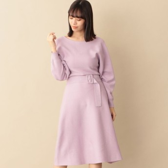 SALE【キャスト(CAST:)】 ウエストマークニットドレス ピンク