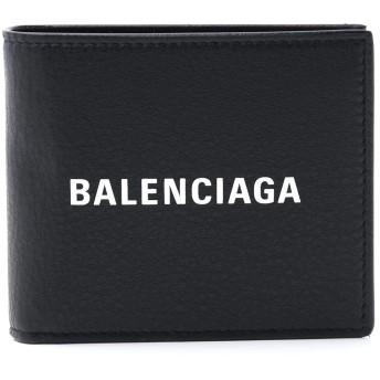[BALENCIAGA(バレンシアガ)] 二つ折り財布 財布 ブラック ロゴ 485108 DLQHN 1060 [並行輸入品]