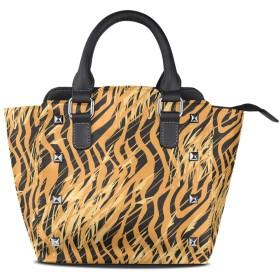 タイガーヒョウスキン女性の女の子のためのハンドバッグ女性クロスボディバッグ革サッチェル財布メイクトートバッグ