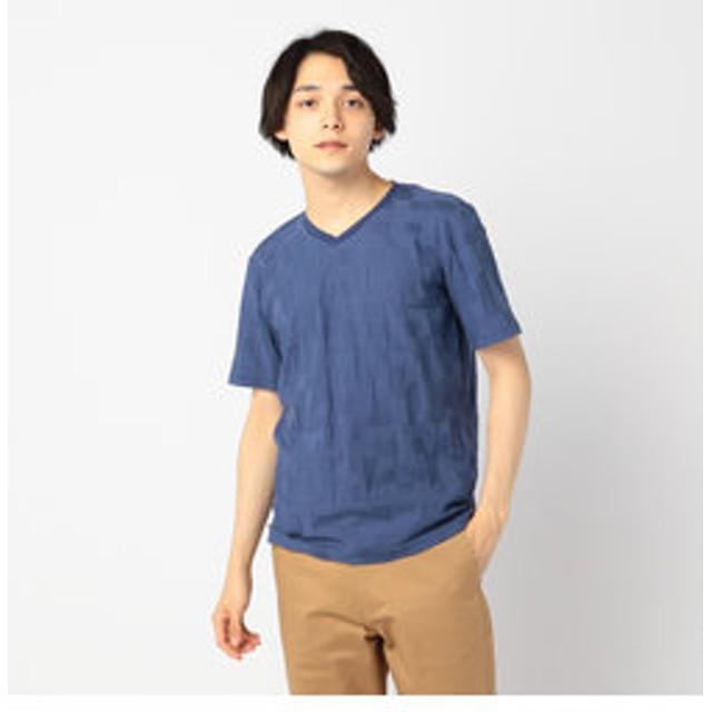 【FREDY & GLOSTER:トップス】リンクス幾何学VネックTシャツ