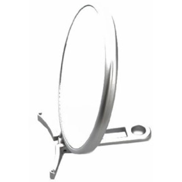 ハンドミラー 折立 片面拡大鏡約3倍付 シルバー CH-8740