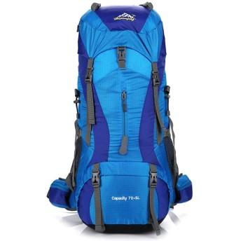 YIYUTING バックパックプロフェッショナル登山バッグアウトドアキャンプキャンプバッグ大容量カジュアルファッションの男性と女性のショルダーバッグショルダー (色 : 青)