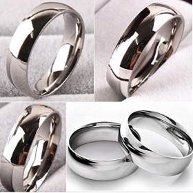 FidgetGear 100ピース品質コンフォートフィット6ミリメートルバンドステンレス鋼結婚指輪卸売ロット