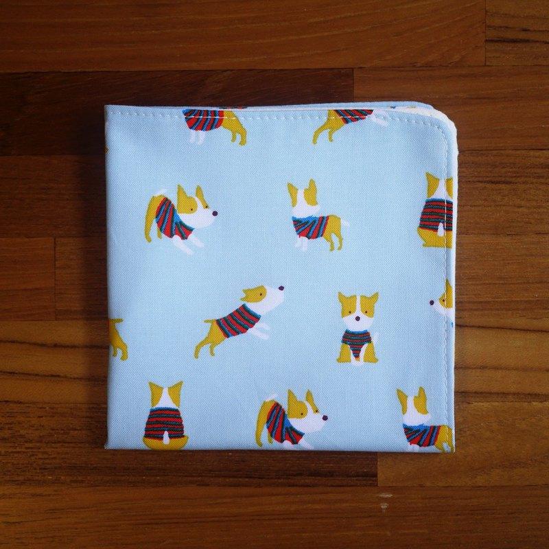 限量訂製款=日本棉布手帕=小狗圓舞曲=水藍