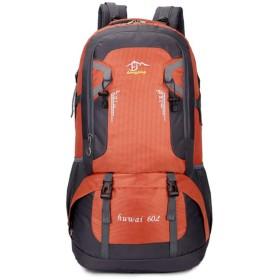 YIYUTING キャンプバックパック多機能防水オックスフォード布登山袋 (色 : オレンジ)