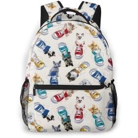 バックパック 猫 スニーカー コンバース Pcリュック ビジネスリュック バッグ 防水バックパック 多機能 通学 出張 旅行用デイパック