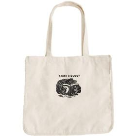 (メルロー) merlot ◆オカタオカさんコラボ◆Bear&Salmonワンポイントトートバッグ A