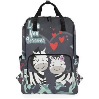 ウマシマウマのための肩のバックパックの学生の軽量のおむつ袋旅行余暇子供の女の子の男の子