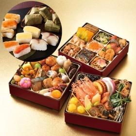 ベルーナオリジナルおせち結〈和三段重〉と柿の葉寿司セット【12月29日お届け】