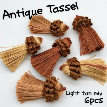 【tasl320】【6個】アンティーク風タッセル ピアス/イヤリング/ネックレス/タッセル