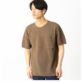 【COMME CA ISM:トップス】和紙ガーター編み ニットTシャツ