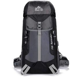 屋外大容量の充電式ショルダーバッグ登山キャンプバックパックキャンプ,黒
