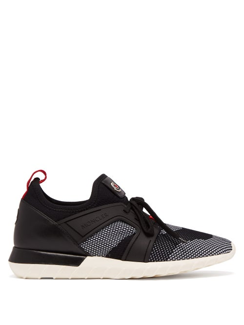 Moncler - Emilien Contrast-panel Low-top Trainers - Mens - Black Multi