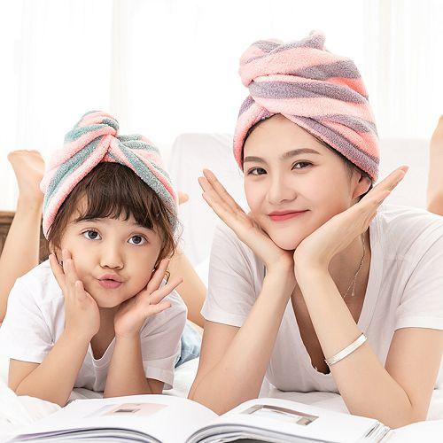 【超取399免運】新款時尚三角珊瑚絨吸水乾髮帽(兒童款) 乾髮帽 乾髮巾