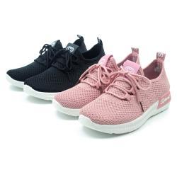 【cher美鞋】MIT輕量便利彈性舒適休閒健走懶人美鞋37-41碼-黑色/粉色 080106171-03