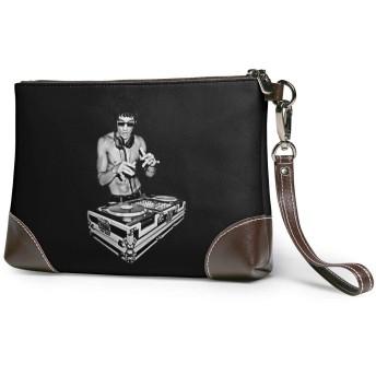 Bruce Leeブルース・リー・ガンフースクラッチDJ クラッチバッグ メンズ レディース セカンドバッグ ハンドバック バッグインバッグ ジッパーウォレットポーチ ケース 大きい財布 本革 おしゃれプリント 人気 結婚式 ビジネス