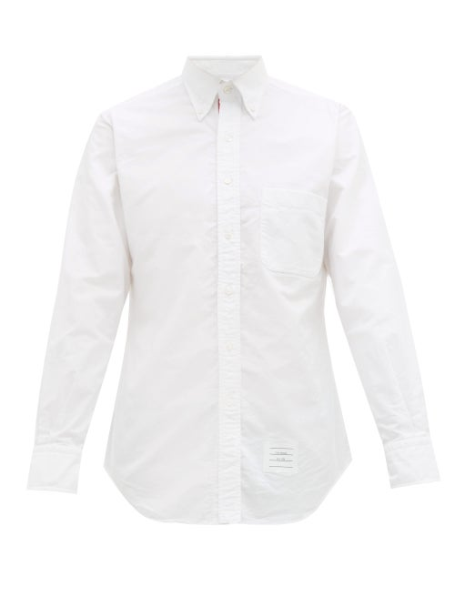 Thom Browne - Tri-colour Placket Cotton-oxford Shirt - Mens - White