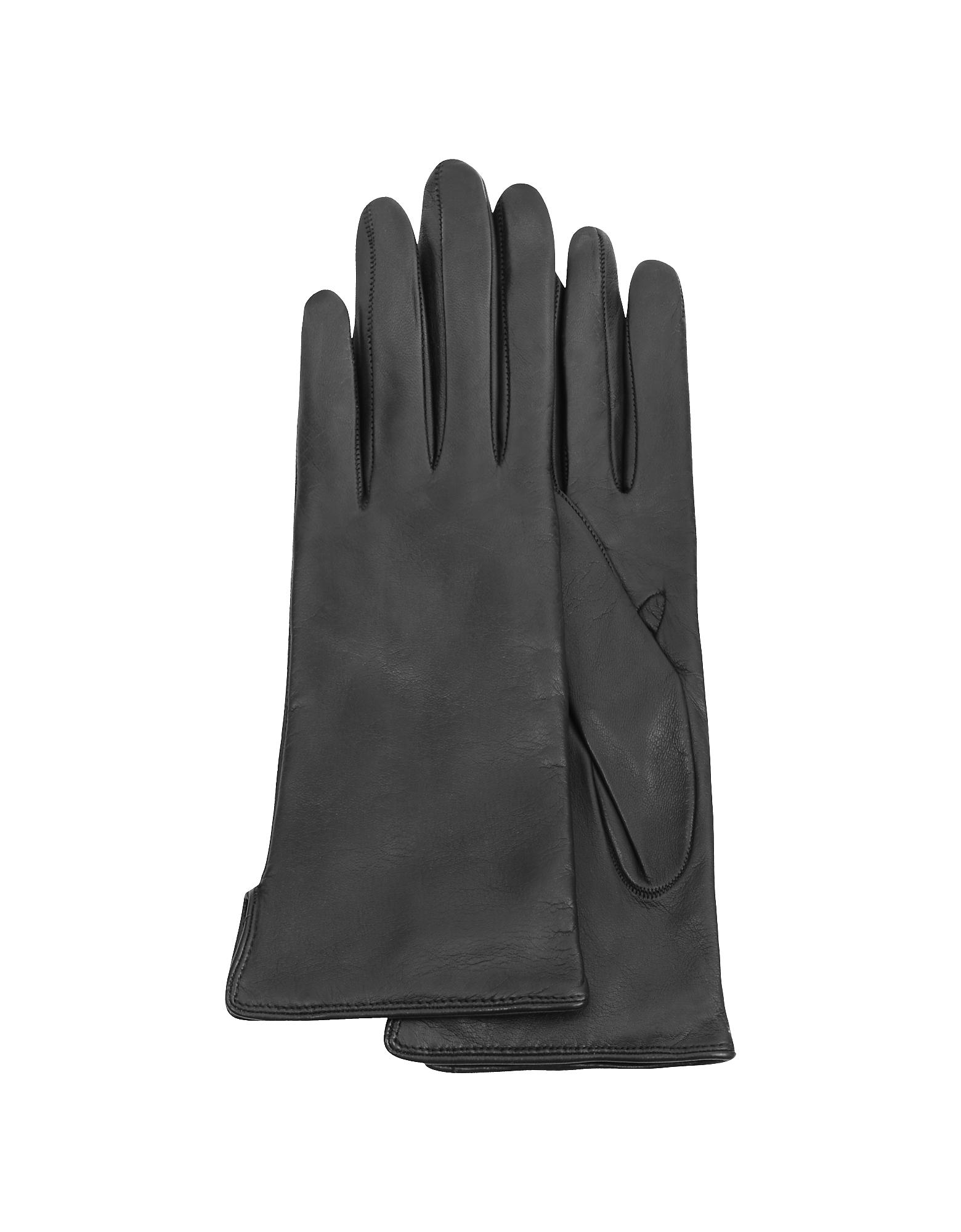 Forzieri 福喜利 女士手套, 黑色羊绒女士皮手套