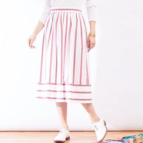 Abahouse Devinette(アバハウス・ドゥヴィネット)/ストライプギャザースカート