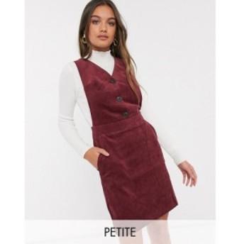 ヴィラ Vila Petite レディース ワンピース ワンピース・ドレス cord pinafore dress in burgundy バーガンディ