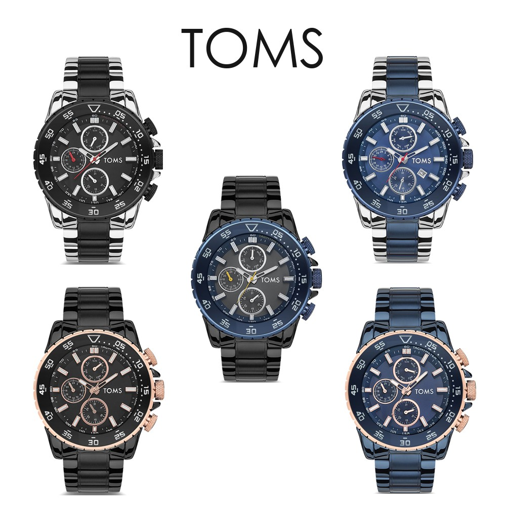 TOMS 型男刻度三眼手錶(71542)