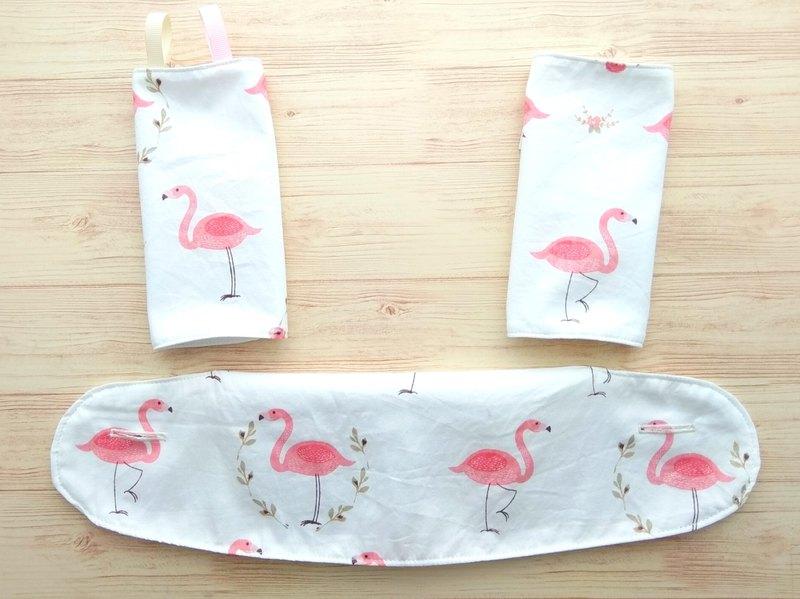 Ergo 360 / Adapt / Omni BIB,口水墊,嬰兒背帶口水巾,粉紅色火烈鳥圈