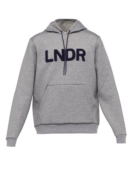 LNDR - Tech-preme Logo-patch Technical Sweatshirt - Mens - Grey