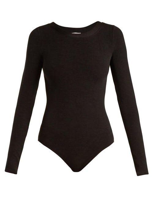 Wolford - Berlin Round-neck Bodysuit - Womens - Black