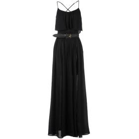 《セール開催中》ELISABETTA FRANCHI レディース ロングワンピース&ドレス ブラック 40 100% レーヨン