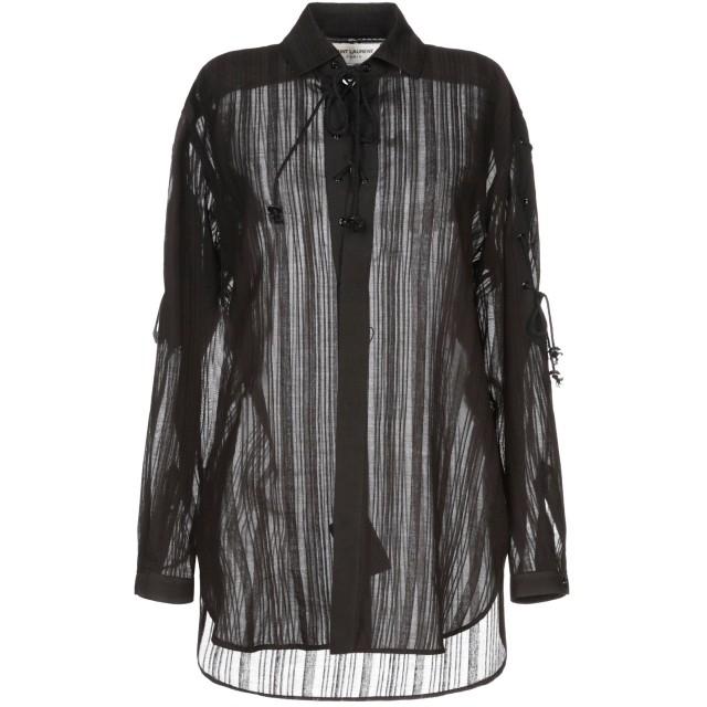 《セール開催中》SAINT LAURENT レディース シャツ ブラック 36 コットン 100%
