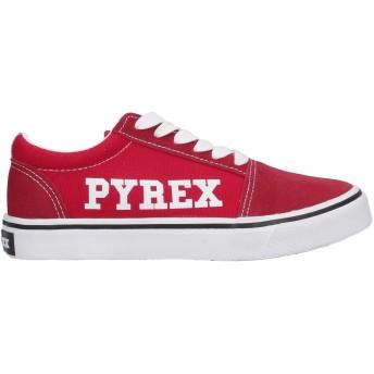 《セール開催中》PYREX レディース スニーカー&テニスシューズ(ローカット) レッド 37 紡績繊維