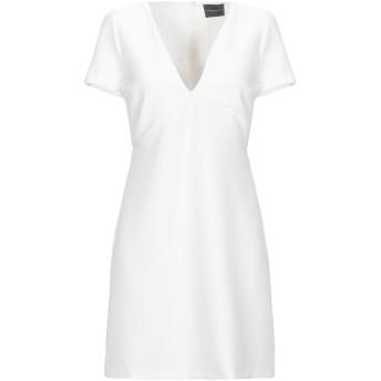《セール開催中》ATOS LOMBARDINI レディース ミニワンピース&ドレス ホワイト 40 ポリエステル 88% / ポリウレタン 12%