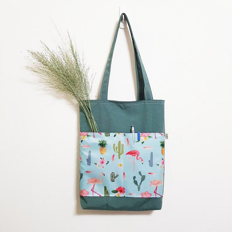 【仙人掌&綠】托特包 防水包 肩背包 側背包 大學包 休閒包