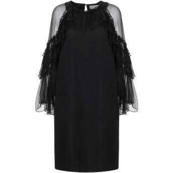 《セール開催中》ANNA RACHELE レディース ミニワンピース&ドレス ブラック 42 シルク 100% / ポリエステル / ポリウレタン