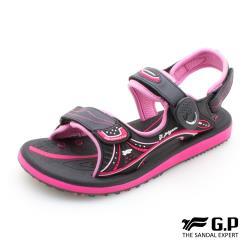 G.P 女款高彈力舒適磁扣兩用涼拖鞋G0769W-黑桃色(SIZE:35-39 共三色)
