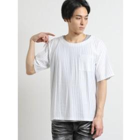 【semantic design:トップス】アンサンブル(ストライプTシャツ+タンクトップ)
