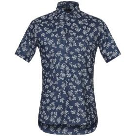 《期間限定セール開催中!》BRANCACCIO メンズ シャツ ダークブルー 38 コットン 100%