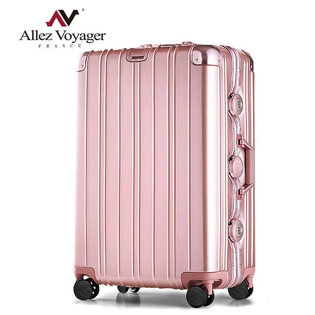 法國 奧莉薇閣無與倫比的美麗pc29吋防撞金屬鋁框耐撞擊行李箱