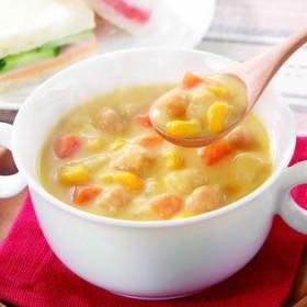 【150g×12袋】<具だくさんスープ>コーンチャウダー