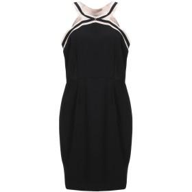 《セール開催中》CRISTINAEFFE COLLECTION レディース ミニワンピース&ドレス ブラック 46 ポリエステル 100%