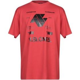 《セール開催中》MARCELO BURLON メンズ T シャツ レッド XS コットン 100% / ポリウレタン