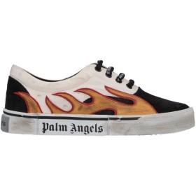 《期間限定セール開催中!》PALM ANGELS レディース スニーカー&テニスシューズ(ローカット) ブラック 36 革 / 紡績繊維