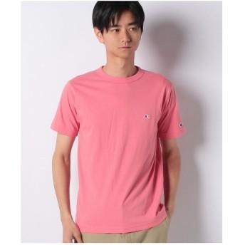 JEANS MATE 【CHAMPION】ワンポイントTシャツ(ピンク)
