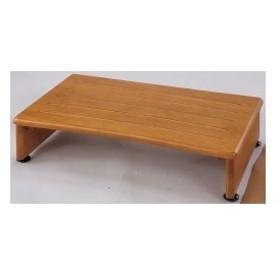 収納付き 玄関台/踏み台 【幅60cm】 木製 アジャスター付き 木目調 【完成品】【代引不可】